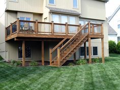 plans for second story deck stairs - Google Search