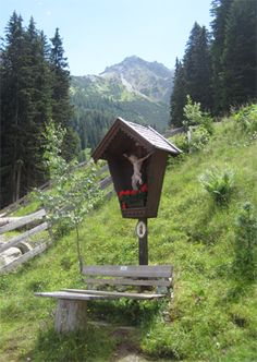 These religious shrines are all over the place in the Tirol region of Austria.  You will be hiking along in the woods and outta the blue there will be these shrines. :-)