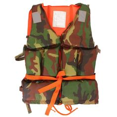 1PCS Youth Kid Size Professional Life Jacket Child Polyester Camouflage Water Sports Foam Flotation survival Vest Safety Product