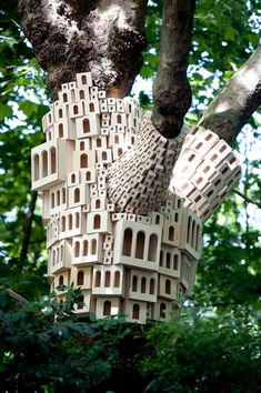 Clusters of Birdhouses Fantastically Wrap Around Trees