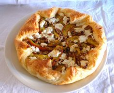 Honig-Kürbis-Tarte mit Ziegenfrischkäse