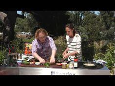 Easy Baked Barramundi Parcel--BBQ Recipe Barramundi Recipes, Great Recipes, Risotto, Bbq, Salad, Easy, Barbecue, Barrel Smoker, Salads