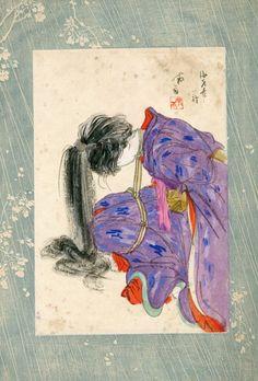 伊藤晴雨画稿「海老責の一種」/Seiu Ito