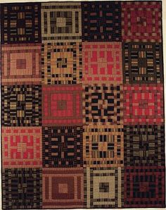 Antique Rug, 52 x 65, by Pamela Goecke Dinndorf- I love the limited palette and the fine stripes
