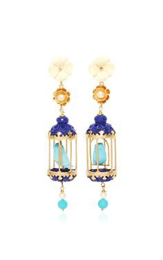 Turquoise Aviary Classic Earring by OF RARE ORIGIN Now Available on Moda…