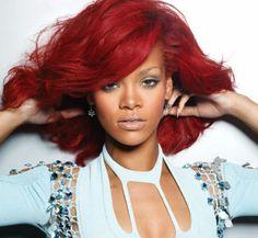 Rihanna Red Hair http://redhairideas.com/rihanna-red-hair/ #rihanna #hair
