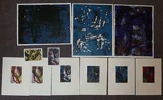 WILLI GREVE, Kleine Auswahl von elf Blatt Farbkompositionen.