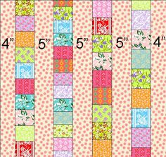 Quilt Taffy: Showered with Love - quilt as you go tutorial.