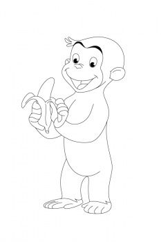 Curious George Colouring Page