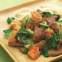 Spicy Beef With Shrimp and Bok Choy