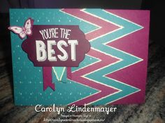 Carolyn's Card Creations: You're the Best Bohemian Card