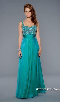 http://www.ikmdresses.com/2014-Prom-Dress-Spaghetti-Straps-Beaded-Bodice-Pleated-Waistband-A-Line-Chiffon-p85058