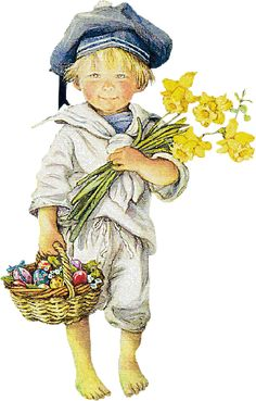 An Easter illustration -- by Lisi Martin Spanish) Easter Illustration, Illustration Mode, Illustrations, Spanish Painters, Spanish Artists, Easter Art, Cute Clipart, Holly Hobbie, Baby Art