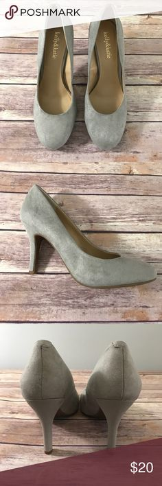 """Grey suede pumps Light gray suede pumps with 3.5"""" heel and rounded toe. Excellent condition, worn only once. Kelly & Katie Shoes Heels"""