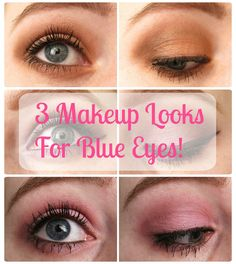 3 amazing makeup looks for blue eyes