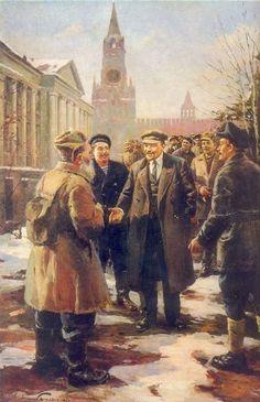 1967 Visitors at the Lenin by Dmitriy Nalbandyan