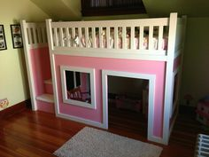 DIY Projects: Build a Playhouse Loft Bed for Your Child ...