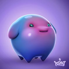 DIAMOND DIGGER SAGA_CHARACTERS on Behance Game Concept, Character Concept, Game Character Design, Game Design, Character Modeling, Alien Character, Simple Cartoon, Polygon Art, Fruit Art