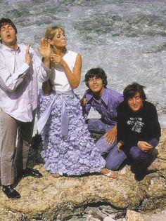 The Beatles filming HELP