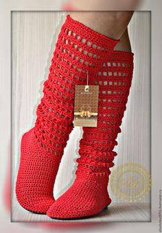 Обувь ручной работы. Ярмарка Мастеров - ручная работа. Купить Сапожки цвет-Гвоздика...Лето.... Handmade. Ярко-красный