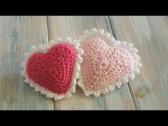 Crochet 3D Heart Pattern Video Tutorial