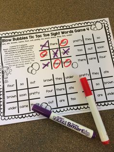 Let's make learning sight words fun with some games! Children need to experience sight words in a variety of situations. So I created some . Sight Word Centers, Sight Word Games, Kindergarten Games, Kids Learning Activities, Preschool Activities, Phonics Games, Grammar Games, Spelling Games, I Love School