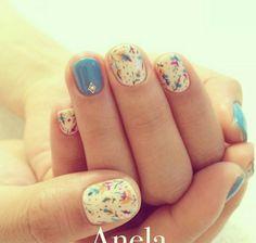 Japanese gel nail arts. Nail art designs for short nails.