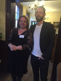Gillian Hamer with Piers Alexander, author of The Bitter Trade Book Launch, Two Men, November 2015, Bitter, Indie, Product Launch, Author, Books, Libros