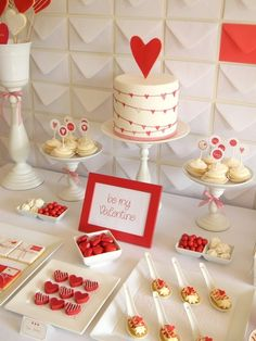 Valentines Day dessert table