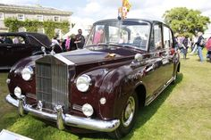 1961 Rolls Royce Phantom V - one of the most instantly recognisable of all the Royal cars. Notice the heraldic shield on top.