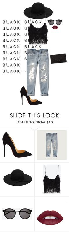 """""""No Comment"""" by christina-sherwood29 on Polyvore featuring Christian Louboutin, Abercrombie & Fitch, Zara, Yves Saint Laurent and Accessorize"""