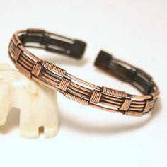 Mens Copper Bracelet/ Mens Bracelet / Mens Cuff Bracelet Copper / Mens Jewelry / Wire Wrapped Bracelet / Wire Wrapped Jewelry Handmade by BeyhanAkman on Etsy Bracelet Fil, Wire Wrapped Bracelet, Woven Bracelets, Copper Bracelet, Copper Jewelry, Bracelets For Men, Fashion Bracelets, Wire Jewelry, Handmade Jewelry