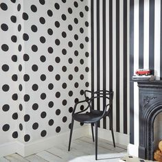 Graham & Brown Black and White Monochrome Stripe Removable Wallpaper 100099 - The Home Depot Striped Wallpaper Black, Spotted Wallpaper, Embossed Wallpaper, Wallpaper Panels, Wallpaper Samples, Print Wallpaper, Wallpaper Roll, Peel And Stick Wallpaper, Stripes