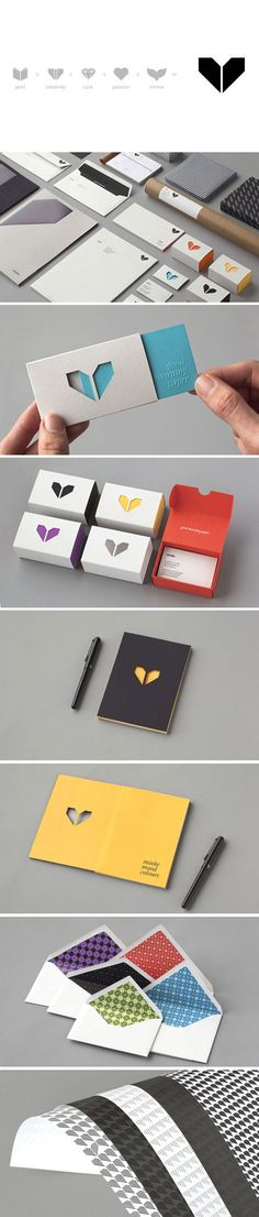 Brand Identity - Replace the heart with a PB logo or a bumble bee silhoutte. Inside card reads: Oh, Hello Friend...