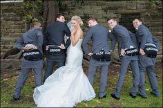 Cheeky wedding shot