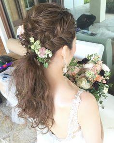 可愛くてお洒落な「ポニーテール」の花嫁ヘア・髪型まとめ   marry[マリー]