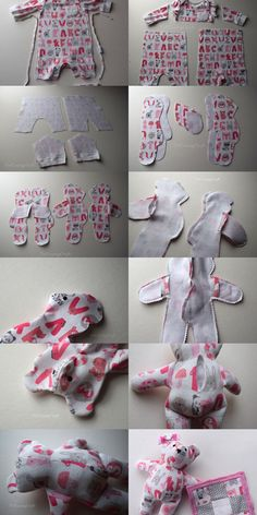 incredible sewing craft ideas for the home incredible sewing craft idea… - Stofftiere Baby Sewing Projects, Sewing Hacks, Baby Clothes Patterns, Sewing Patterns, Baby Clothes Quilt, Diy Clothes, Crochet Patterns, Baby Crafts, Fun Crafts