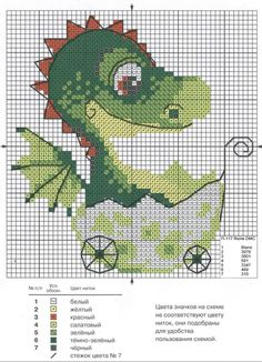 Point de croix *♥*Cross stitch Dragons                              …