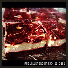 Red velvet brownie cheesecakes