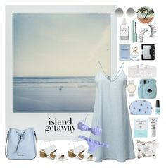 """baby blue"" by wtfaria ❤ liked on Polyvore featuring Tahari, Polaroid, Armani Jeans, Accessorize, Laura Ashley, Fujifilm, Marc Jacobs, Miu Miu, NARS Cosmetics and Herbivore"