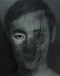 """""""stranger (100),"""" grey portrait painting by artist Lim Cheol Hee   Discover more new art at Saatchi Art: http://www.saatchiart.com/art-collection/Painting-Collage-Sculpture/New-This-Week-6-22-2015/153961/107150/view #grey"""