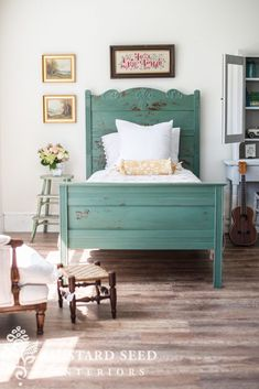 the cottage bed reveal - Miss Mustard Seed