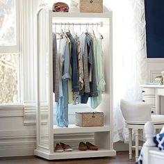 Lilac Wardrobe Storage Display #pbteen