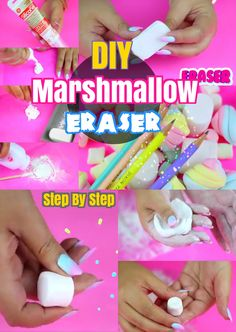 DIY Back to School Crafts: How to Make Marshmallow Eraser for Kids. Simple and Easy Craft ideas Turorial.