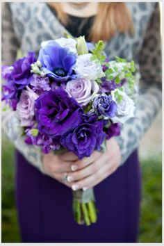 purple lavender wedding ideas bouquet by  Flour and Flower Designs and Flower Designs
