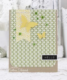 Hello, Yellow {butterflies} | Dietrich Designs #colleendietrichdesigns Altenew, Stampin' Up!, butterflies, greeting card