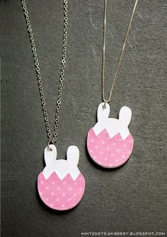DIY: Bunny-in-an-Egg Paper Necklaces