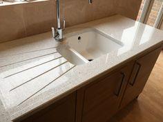 Work Tops, Sink, Quartz, Interiors, Kitchen, Home Decor, Kitchens, Sink Tops, Vessel Sink