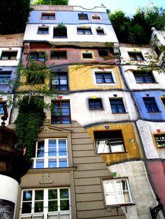 Hundertwasser Haus in Vienna, Austria.
