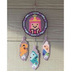 Adventure Time dreamcatcher perler beads by gr8bitz